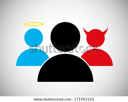 Evil Vs Angel - stock vector