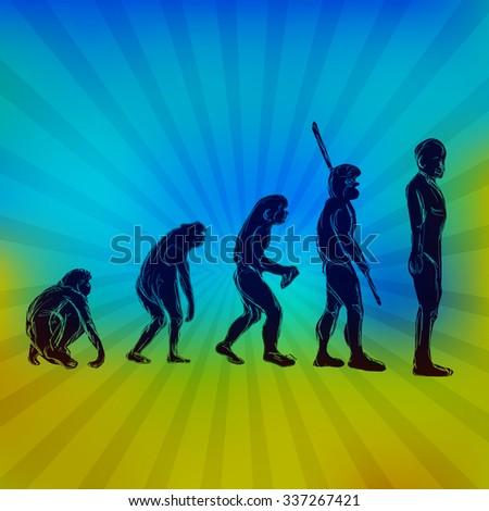 Evolution of Human Species - Homo Sapiens - stock vector