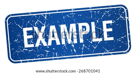 example blue square grunge textured isolated stamp - stock vector