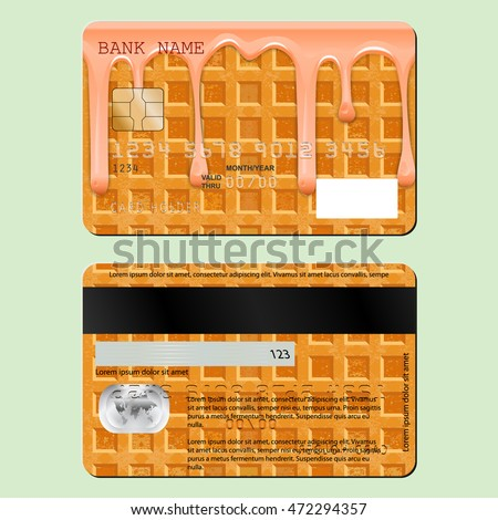 Example Design Credit Card Sweet Waffle Stock Vector 472294357 ...