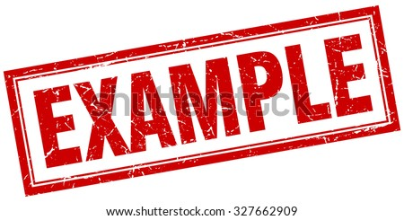 example red square grunge stamp on white - stock vector