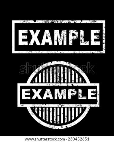 example, stamp vector - stock vector