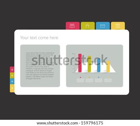 Example web site. Simply vector design template. - stock vector