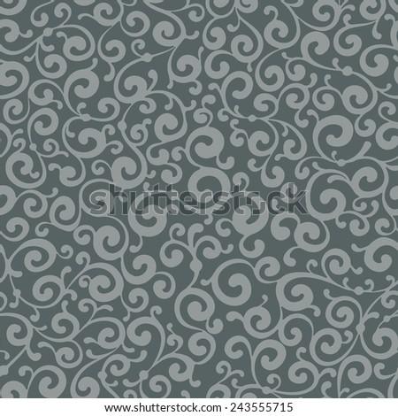 Excellent antique wallpaper, seamless - stock vector