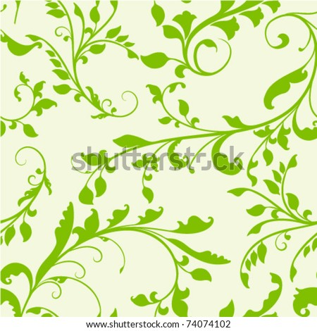 excellent seamless floral background .Pattern - stock vector