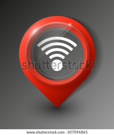 3d wifi symbol stock images royalty free images vectors for Localisation wifi