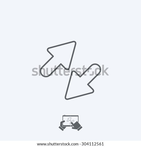 Exchange icon - Thin series - stock vector
