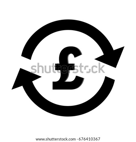 Exchange Money Currency Pound Sterling Pound Stock Vector 676410367