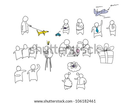 Exciting life - stock vector