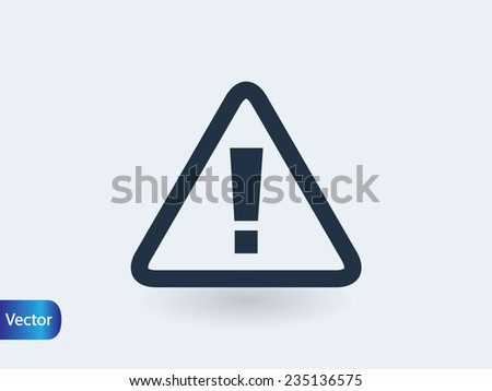 exclamation icon - stock vector