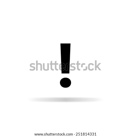 exclamation mark - stock vector