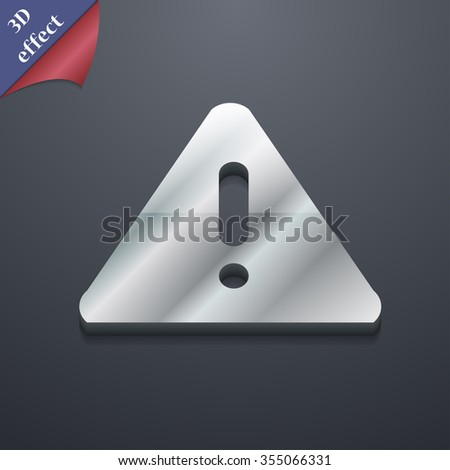 exclamation mark, Attention caution icon symbol. 3D style. Trendy, modern design with space for your text Vector illustration - stock vector