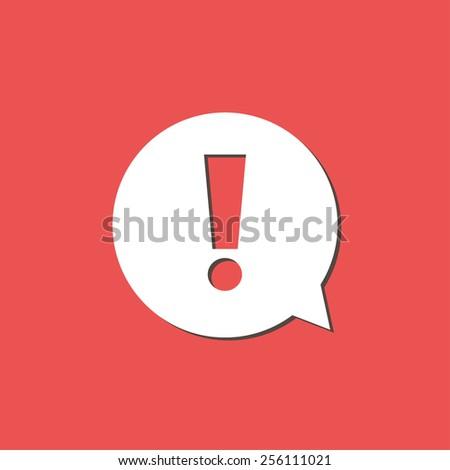 Exclamation mark. Exclamation mark. Hazard warning symbol. Flat design style.  - stock vector
