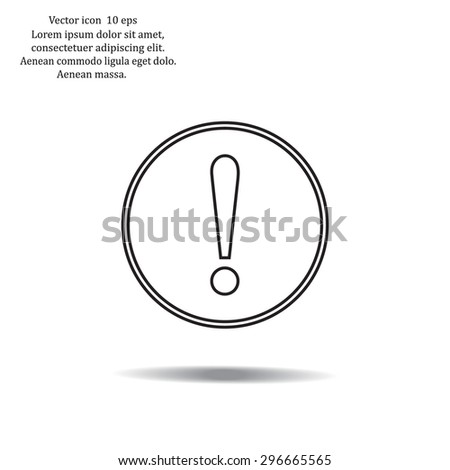 Exclamation mark. Exclamation mark. Hazard warning symbol. Flat design style. Vector EPS 10. - stock vector