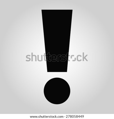 exclamation mark icon - stock vector