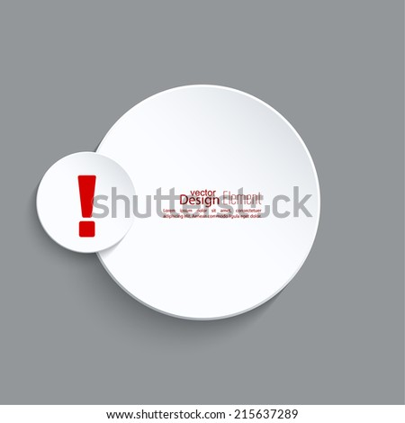 Exclamation mark icon. Attention sign icon. Hazard warning symbol  in gray background. vector - stock vector