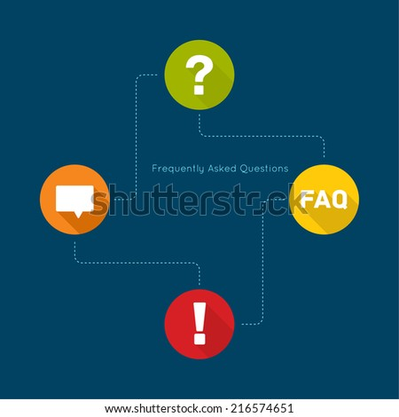 Exclamation mark icon. Attention sign icon. Question mark icon with long shadow. Help symbol. FAQ sign on a green background. vector. concept question answer. for mobile apps - stock vector