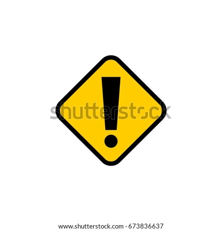 Exclamation Mark Street Sign Template Stock Vector - Street sign template
