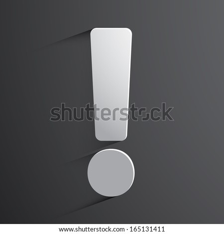 Exclamation mark web icon background. - stock vector