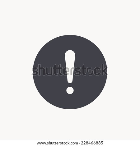 exclamation sign icon - stock vector