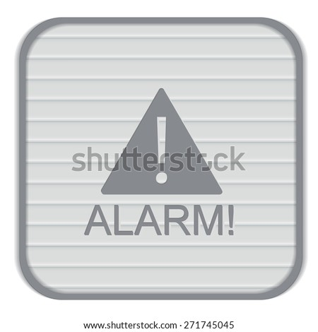 Exclamation Sign icon, alarm sign