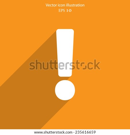 Exclamation web icon background. Eps 10 vector illustration. - stock vector