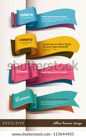Exclusive banner design - stock vector