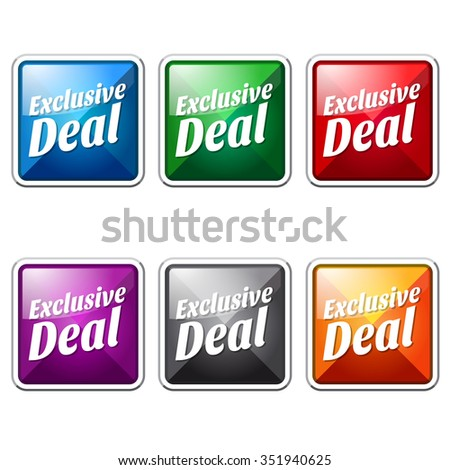 Exclusive Deal Colorful Vector Icon Button
