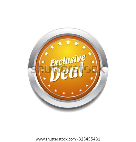 Exclusive Deal Yellow Vector Icon Button