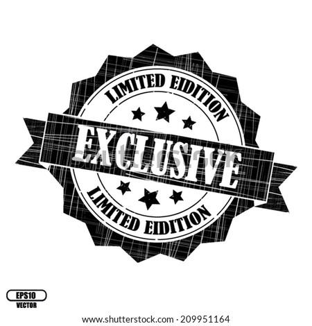 Exclusive Limited Edition Rubber Stamp Stickers Stock Photo Photo