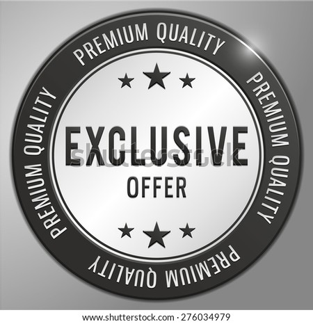 Exclusive offer black badge banner - stock vector