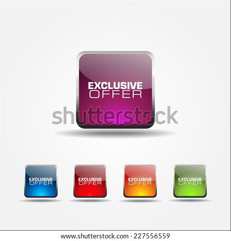 Exclusive Offer Colorful Vector Icon Design