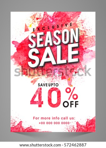 exclusive seasonal sale flyer banner pamphlet stock vector royalty