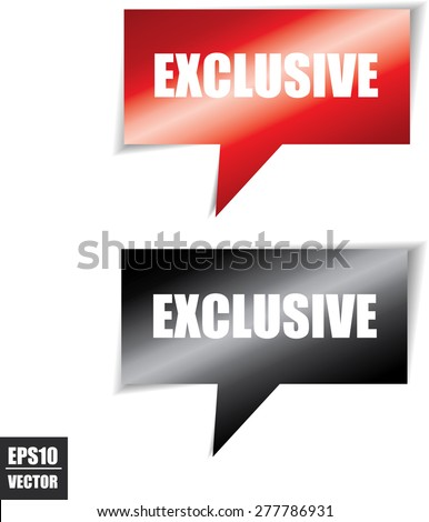 Exclusive speech square template | business banner with symbol icon - Vector. - stock vector