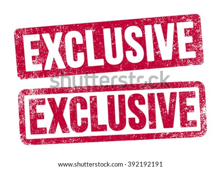 Exclusive stamps - stock vector