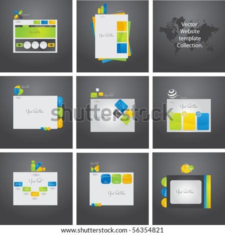Exclusive vector set eight website templates stock vector 56354821 exclusive vector set of eight website templates maxwellsz