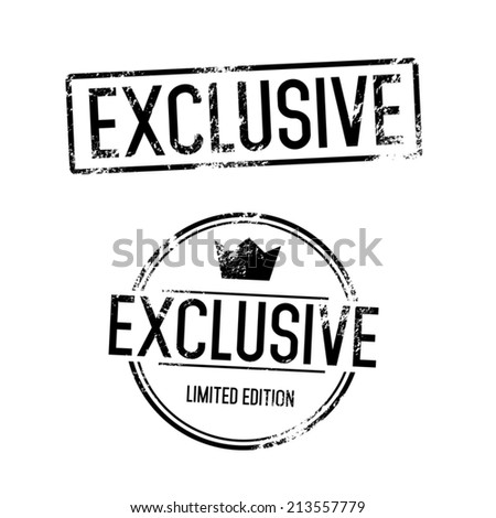 Exclusive Vector Stamp - stock vector