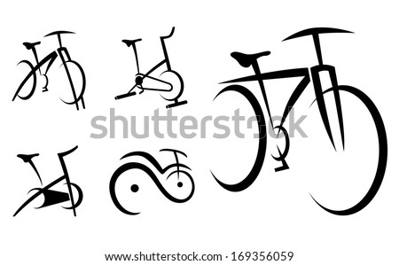 Exercise Bike, Cycle, Health Equipment Vector Illustration - stock vector