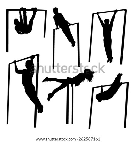 Exercise Silhouettes - stock vector