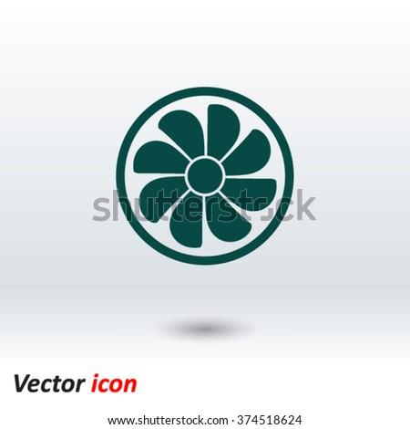 Exhaust Fan Icon Ventilator Symbol Stock Vector 374518624 Shutterstock