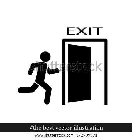 exit icon, exit icon eps10, exit icon vector, exit icon eps, exit icon jpg, exit icon picture, exit icon flat, exit icon AI, exit icon drawing - stock vector - stock vector