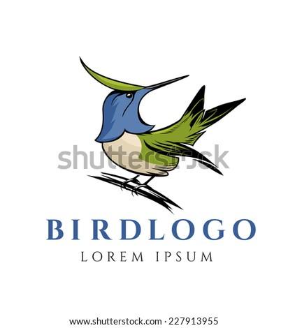Exotic Bird Logo Template - stock vector