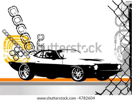 exotic car vector - stock vector