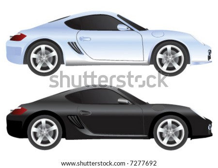 exotic car vector (illustration in detail) - stock vector
