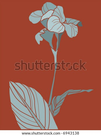 Exotic flower - vector - stock vector