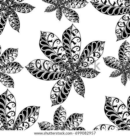 Wallpaper pattern vintage black and white dress