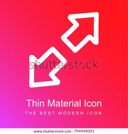 expand hand drawn interface symbol two stock vector 794949091