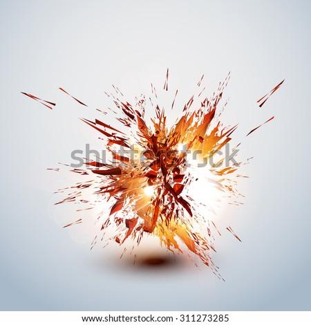 explode grunge background easy editable - stock vector