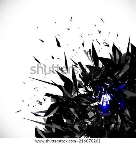 Explode in Space Abstract Background, Vector illustration - stock vector