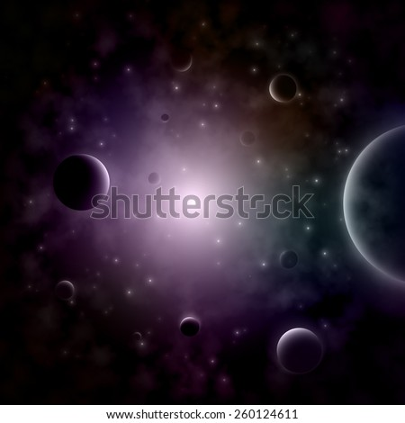 Exploding Star In the Space. Vector Illustration. - stock vector